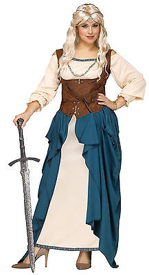 Adult Viking Queen Renaissance Wench Medieval Costume Plus size