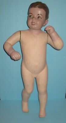 Vintage Department Store Little Boy Wood Mannequin 1930-40s Free Shipping