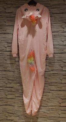 EINHORN KOSTÜM H&M XS S M L XL ROSA GLITZER OVERALL REGENBOGEN KARNEVAL - Regenbogen Einhorn Kostüm