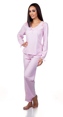 Hering Woman's Light Cotton Two-Piece Longesleeve Pajama Set 7616
