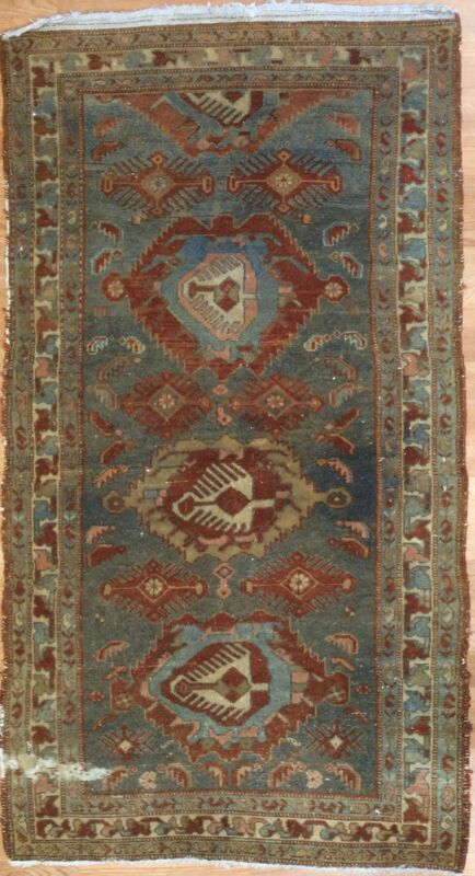 Marvelous Malayer - 1900s Antique Persian Rug - Tribal Oriental Carpet 3.4 X 6.1