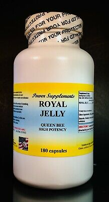 Royal Jelly, cholesterol, energy tonic, anti-aging - 180 Capsules. Made in USA.