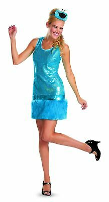 Cookie Monster Halloween Costume Female (Sesame Street Cookie Monster Glam Costume Halloween Sequins Women's Fancy)