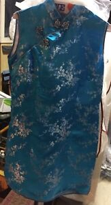 Blue Chinese Dress For Sale - Size 8