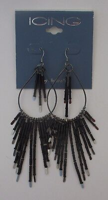 Aa Dramatic Big Bold Black Bead Earrings Claires Jewelry