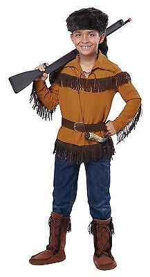 Davy Crockett Costume (Thanksgiving Western Davy Crockett Frontier Pioneer Daniel Boone Child)