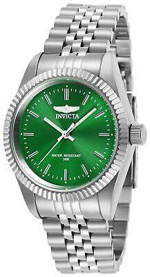 Invicta Women's Watch Specialty Quartz Green Dial Stainless Steel Bracelet 29397