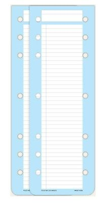 Day-timer Dbl Punch Narrow Hot List Sheets Folio Size 2 Pads 3-34 X 10-12