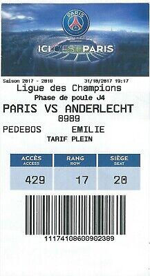 Ticket: PSG (Paris Saint-Germain) - Anderlecht UEFA Champions League(31-10-17)