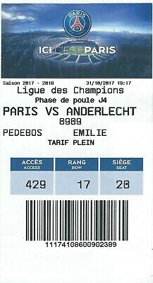 Ticket: PSG (Paris Saint-Germain) - Anderlecht UEFA Champions League(31-10-17)