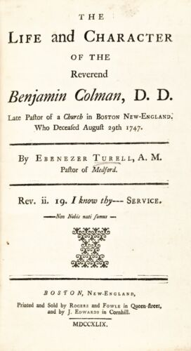 1749 NEW ENGLAND / BOSTON PURITAN RELIGION BOOK That Forever Changed Puritanism!