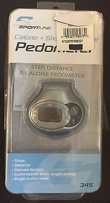 Sportline 345 Pedometer Calorie Counter, Step, Distance fully functioning