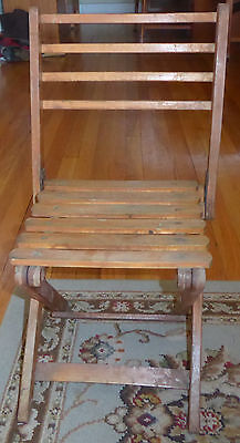 Vintage Child's Wood Folding Chair