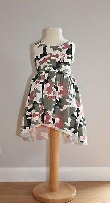 Sommerkleid Gr. 92 Mädchenkleid Tutu Kleider Kinder Ärmellos Mode für Mädchen