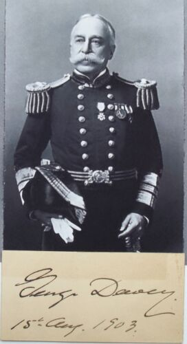 Admiral Of The Navy George Dewey Battle Of Manila Hero Signed Autograph Card