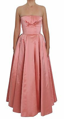 NWT $6300 DOLCE & GABBANA Dress Pink Silk Ball Gown Full Length IT36/ US4/XS