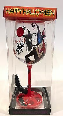 Halloween Wine Glass 'Partying Is In My Blood' 9