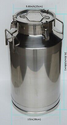 Techtongda 15.8 Gallon Milk Pail Ricewine Storage Barrel 304 Stainless Steel