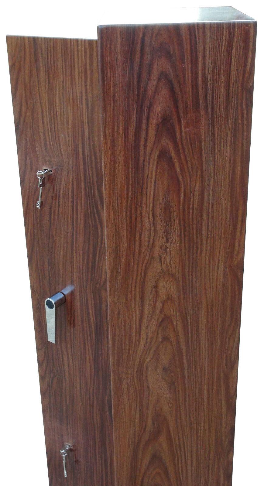 Premium Wood Effect 6 Gun Cabinet Inner Ammo Safe Shotgun