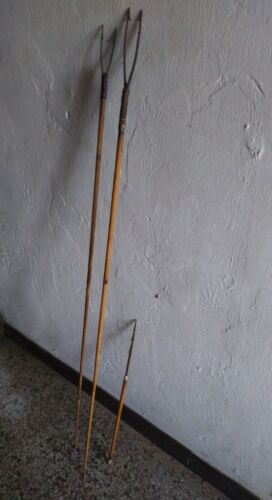 Antique Indian Fishing Spears Lot