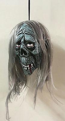 """4"""" Shrunken Zombie Monster Head Halloween Prop"""