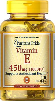 Puritan's Pride Vitamin E-1000 IU - 100 Softgels