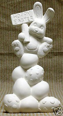 Ceramic Bisque Happy Egg Stack Clay Magic Mold 2409 U-Paint Ready To Paint