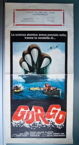 GORGO 1961 Vintage Italian 13x28 Original Monster Movie Poster