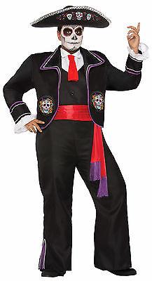 Day of The Dead / Dia de los Muertos - Adult Mariachi Macabre (Dia De Los Muertos Mariachi Kostüm)