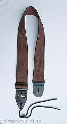 Guitar Strap BROWN NYLON Fits All Acoustic & Electrics Made In USA Since 1978