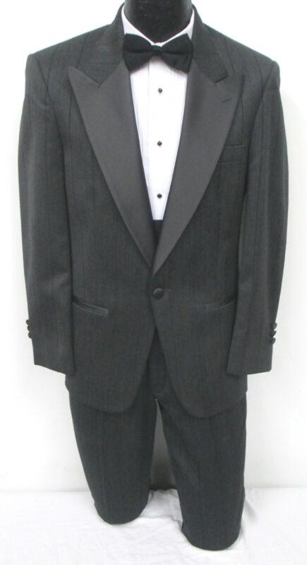 Mens Dark Grey Christian Dior Tuxedo Jacket with Pants & Matching Cummerbund