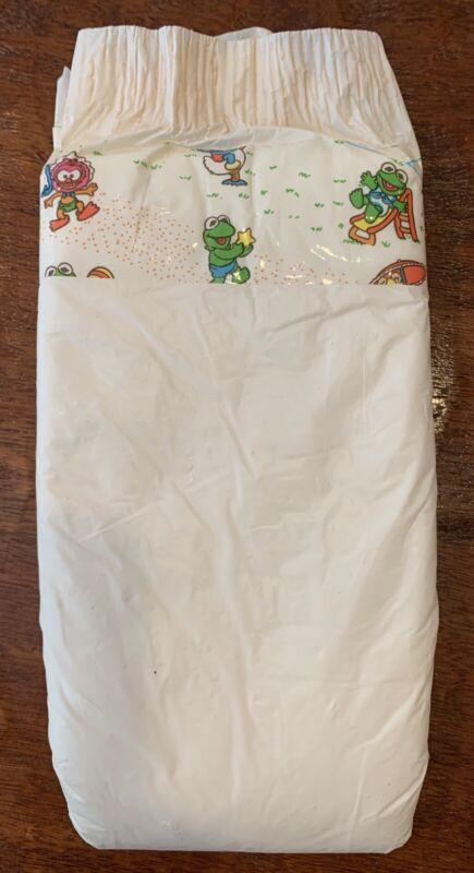 Vintage Plastic Backed Disposable Diaper Unisex 6/XL Muppet babies!