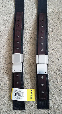 - Action Co. LEATHER LINED NYLON STIRRUP LEATHERS w/ Center Punched Holes 2 colors