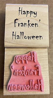VTG ~ Just For Fun 1996-2007 ~ Happy Franken' ~ Rubber Stamp ~ Brand New!
