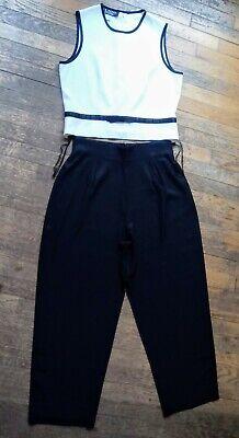 J.R. NITES PETITES BY CALIENDO Sleeveless Pant Suit size 12 black/white