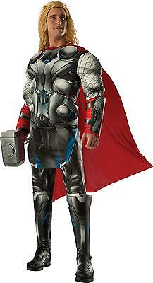 Erwachsene Avengers Kostüm (Erwachsene Marvel Comics Avengers Thor Deluxe Muskelbrust Kostüm RU810293)