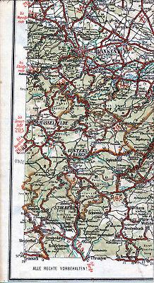 Blankenburg Stolberg Hasselfelde Güntersberge 1925 Teilkarte/Ln. Thale Heimburg