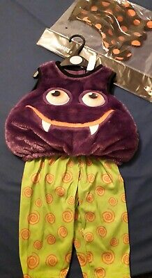 NEW SCARY SPIDER PURPLE HALLOWEEN BABY FANCY DRESS COSTUME & LEGS AGE 6-9M ON £6