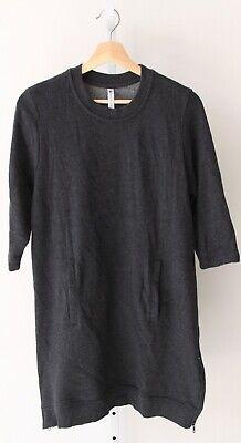 FABLETICS Elena Tunic Dress 3/4 Sleeve Sweatshirt Side Zip Hem Pockets Gray M