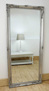 Isabella Silver Shabby Chic Full Length Antique Floor Mirror 66
