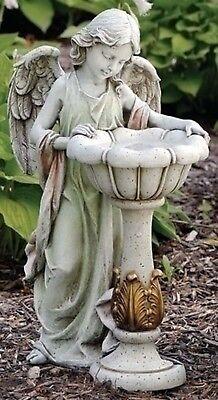 "23""Girl Angel with Solar Bird Bath Outdoor Garden Statue Joseph's Studio # 47237"
