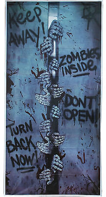 Halloween Zombies Inside Horror Scary Door Cover Party Poster Decoration (Scary Halloween Zombies)