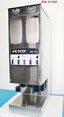 Fetco Gr2.2 Dual Hopper 10 Lb. 4 Batch Portion Control Coffee Grinder V. Clean