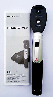Heine Mini 3000 Xhl Ophthalmoscope With Aa Battery Handle