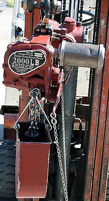 Chicago Pneumatic Power Vane Cp-1200 Chain Hoist 1 Ton 2000 Lbs Capacity