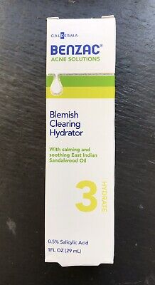 Benzac Acne Solutions Blemish Clearing Hydrator 1oz Discontinued Salicylic Acid