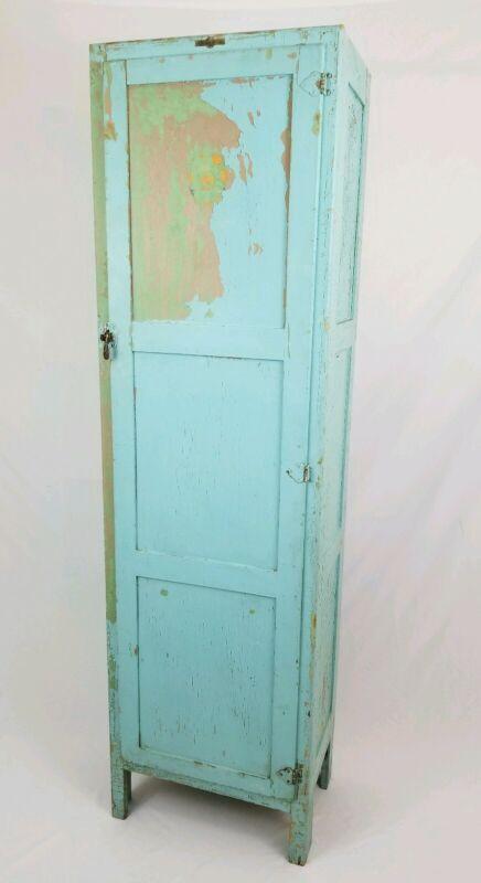 Antique Jelly Cupboard Primitive Wood Storage Cabinet Farmhouse Kitchen Pantry