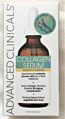COLLAGEN SERUM Advanced Clinicals 1.75 oz INSTANTLY PLUMPS For Flash Radiance