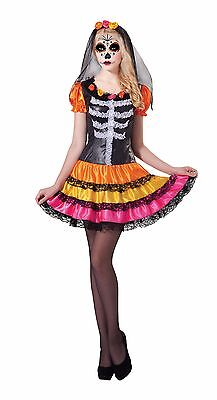 Damen Mexikanisch Tag der Toten Damen Rainbow Kleid # Kostüm Halloween Outfit