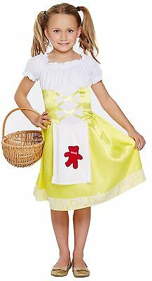 ld Fancy Dress Up Costume Outfit Age 4 - 12 Yrs Book Day New (Goldilocks Dress Up)